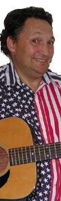 Roger Chartier in patriotic shirt