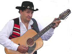 Guitar Country western singer Roger Chartier